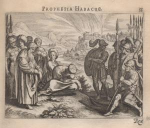 Original Kupferstich von der Platte aus Icones Biblicae