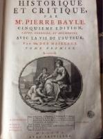 VERKAUFT:  Bayle, Pierre: Dictionnaire historique et critique 1740