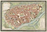 VERKAUFT: Ulm Stadtplan: Schlumbergerplan Plan der Königlich Württembergischen Stadt Ulm-koloriert