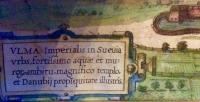 "Ulm Gesamtansicht ""Ulma imperialis in Suevia urbs...""Braun & Hogenberg 1580"