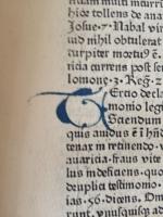 """Original-Fragment aus Leonardos de Utino`s """"Seremones quadragesimales de legibus dicdi"""" von Prior Ludwig Fuchs und Frater Felix Fabri aus des ersten Ulmer Buchdruckerei Johann Zainer im Jahre 1478"""
