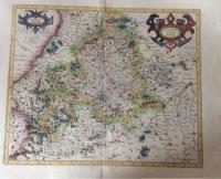 Mercator: Wirtenberg Ducatus, altkolorierte Kupferstichkarte von Württemberg