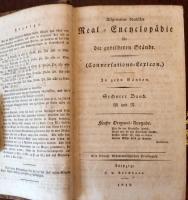 ALLGEMEINE DEUTSCHE REAL-ENCYCLOPAEDIE für gebildete Stände. (Conversations-Lexicon). 5. Original-Auflage. 10 Bde (A - Zz) und CONVERSATIONS-LEXICON. NEUE FOLGE