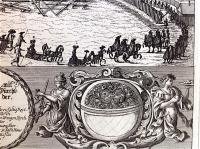 Johann Frank (Franck): Prächtige Lustschlittenfahrt des Herzogs Karl von Lothringen und seiner Gemahlin Eleonora, Königin von Polen beim Schützenhaus 1679.