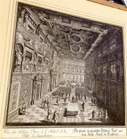 Der große so genandte Guldene Saal auf dem Rath-Hauss zu Augspurg. - Vue du Salon Doré à l'Hotel de la Ville d'Augsburg 1730