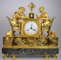 """Bedeutende Pendule """"La Leçon d'astronomie"""" nach J.A. Reiche von ca. 1810"""