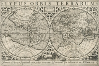 Mercator: Atlas Minor, Weltkarte 1610