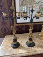 Paar figürliche Kerzenhalter, Kandelaber um 1850